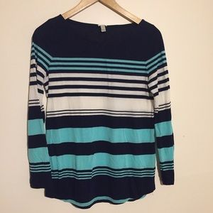 ⛱ 2/$12 J Crew long sleeved striped shirt